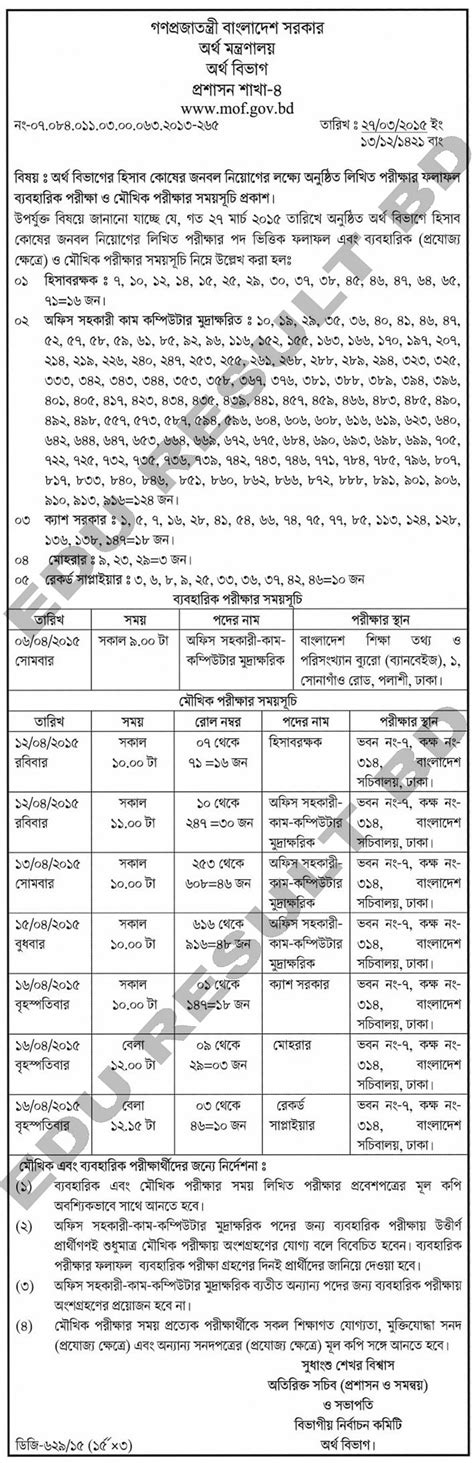 Mofa Jobs 2018 by Ministry Of Housing And Public Works Job Circular 2017