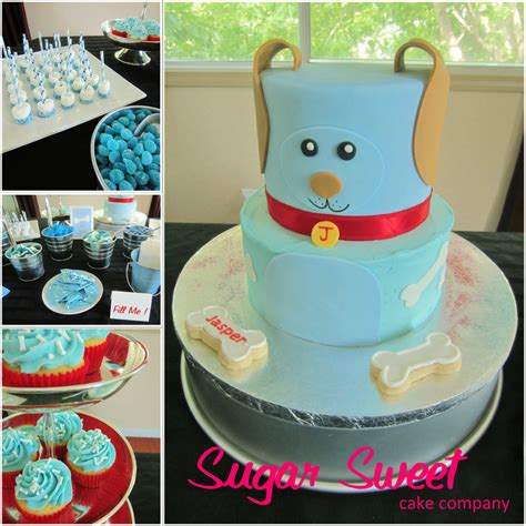 puppy themed baby shower blue puppy themed baby shower cake cakecentral