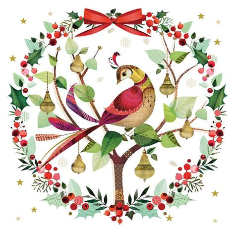 partridge in a pear tree christmas cards british lung