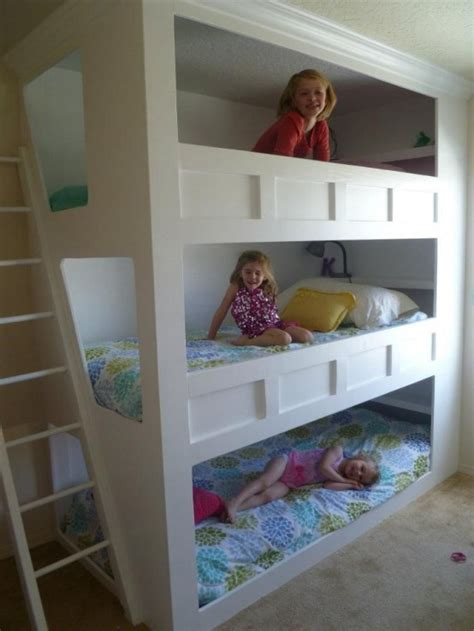 Three Bed Bunk Beds 31 Cool And Practical Bunk Beds For More Than Two Digsdigs