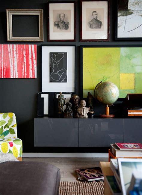Stylish Living Room dark gray ikea besta units