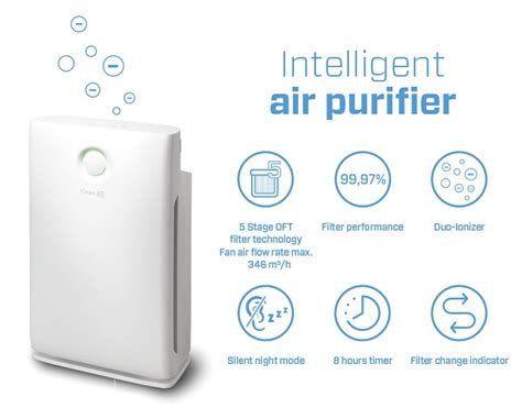 intelligent hepa ionizer air purifier ca 509 air