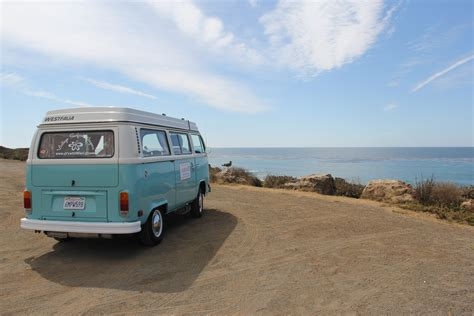 volkswagen bus beach the best california road trip
