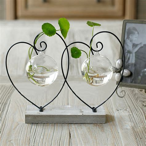 heart home decor home vase decoration brief transparent glass vase fashion