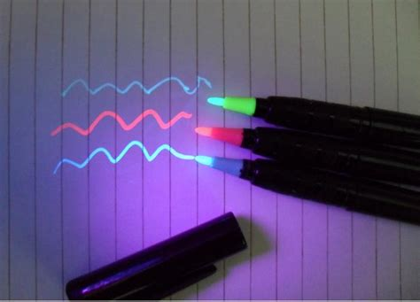 invisible ink black light black light quot invisible ink pens markers quot