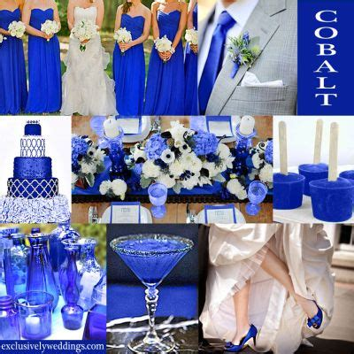blue and silver really might be my wedding colors the contrast of the bright blue on the