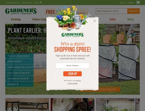 Gardeners Supply Promo Code by Gardeners Coupons Gardeners Supply Company Promotion