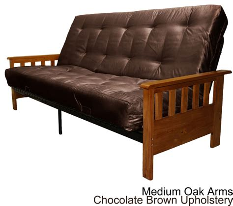 mission style futon frame provo full size with inner spring futon sofa sleeper bed