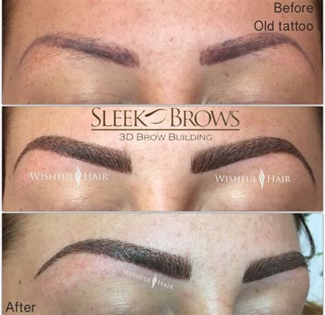 tattoo eyebrows reviews tattoo coverage by sleek brows eyebrow extension