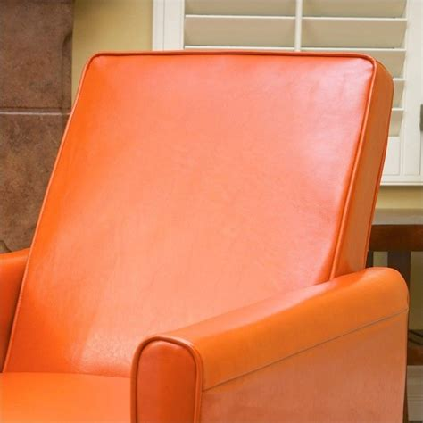 orange recliner chair trent home delouth leather recliner chair in orange 224252cy