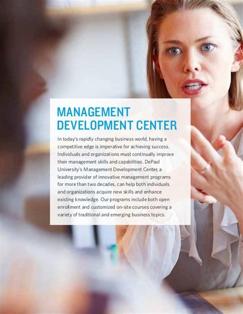 Mba Primer Depaul by Depaul Cpe Management Development Center Program And