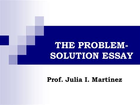 sle problem solution essay obstacle essay