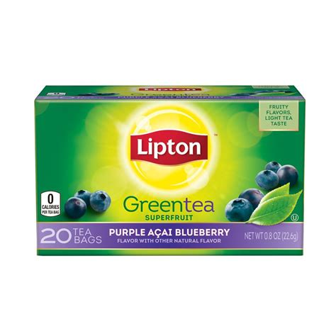 Amazon.com : Lipton Green Tea, Purple Acai Blueberry 20 ct (pack of 6) : Grocery & Gourmet Food