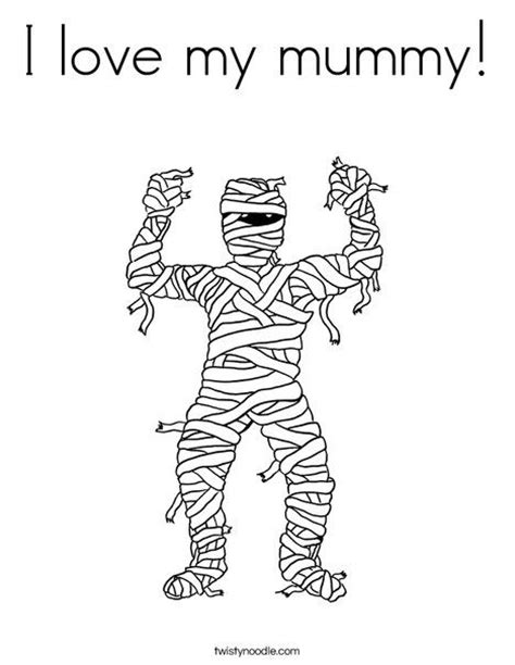 halloween coloring pages twisty noodle mummy coloring page from twistynoodle com halloween