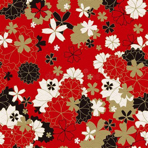 kimono pattern texture japanese classic floral seamless pattern stock vector