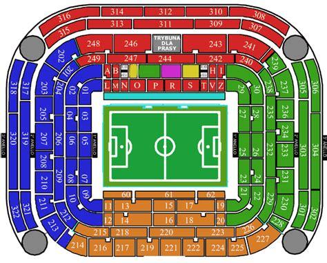 ingressi san siro mappa stadion san siro w mediolanie