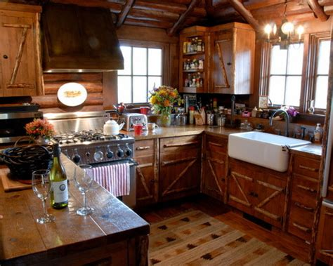 small log cabin kitchens design ideas amp remodel pictures houzz kitchen eat photo