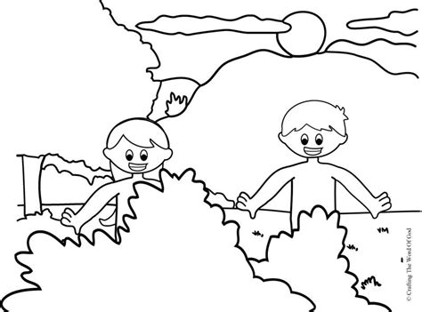 Coloring Page Adam And by Adam And Coloring Page