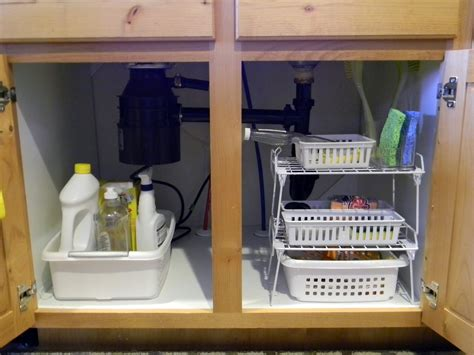 Under Kitchen Sink Cabinet by Under Sink Cabinet Organizers Under Sink Storage Pull