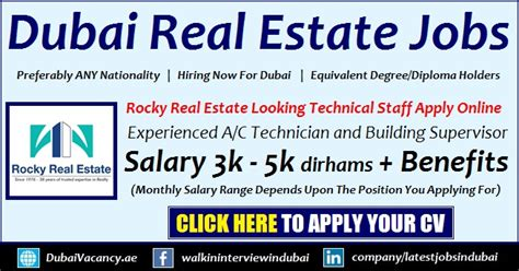 Mba In Real Estate Careers by Rocky Real Estate Careers Dubai Vacancy