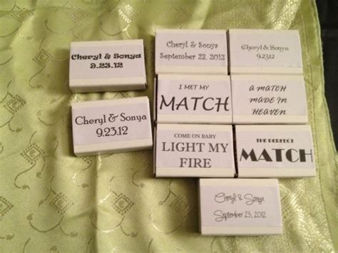 Wedding Box Matches by Match Box Favours Weddingbee Photo Gallery