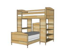loft bed plans white chelsea bed or bottom bunk diy projects