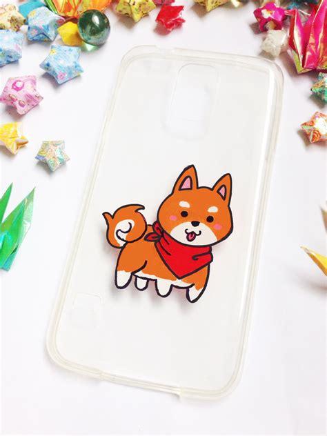 acrylic paint phone shiba inu phone cases on storenvy