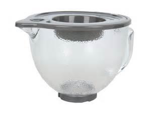 Kitchenaid Glass Bowl Kitchenaid 5 Qt Hammered Glass Bowl With Pouring Spout Lid