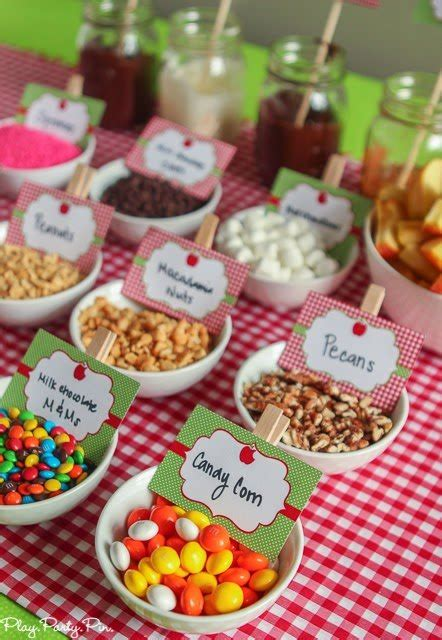 caramel apple toppings bar easy apple party ideas that are perfect for fall