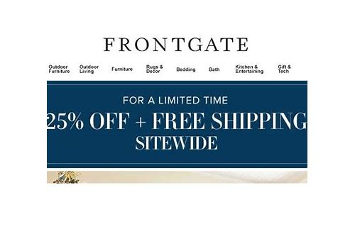 frontgate coupon code free shipping