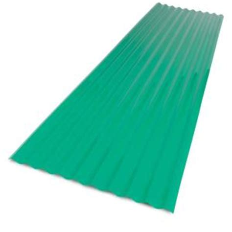 corrugated plastic home depot palruf 26 in x 8 ft green pvc corrugated roof panel