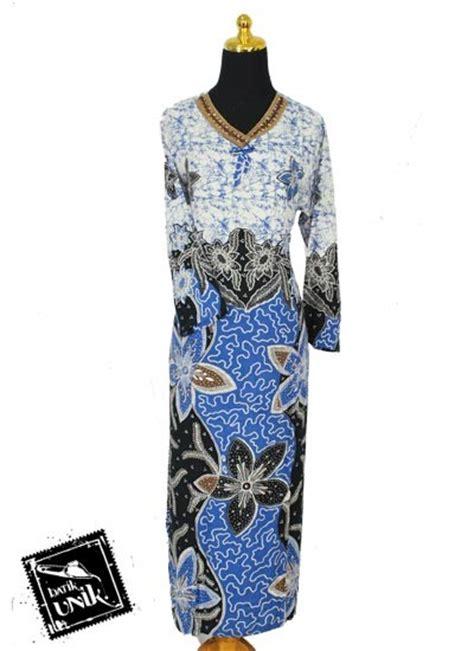 Dress Gamis Renda Murah baju batik longdress renda santhung motif kembang banyu