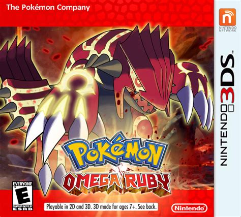omega ruby pokemon omega ruby nintendo 3ds box art cover by spham9