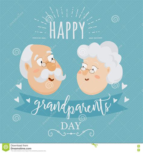grandparents cards to make grandparents day vector design template illustration with