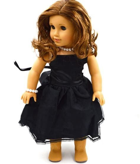 Where To Buy American Girl Gift Cards - 2015 hot sell doll clothes fits 18 quot american girl handmade black party dress ebay