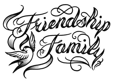 gothic letters tattoo designs calligraphy lettering friendship family