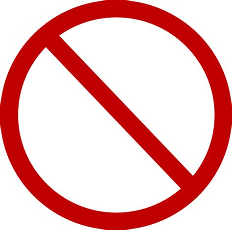 no smoking sign red circle red no circle clip art free vector 4vector