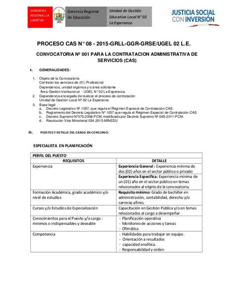 convocatoria cas gobierno regional de arequipa convocatoria cas 08 2015