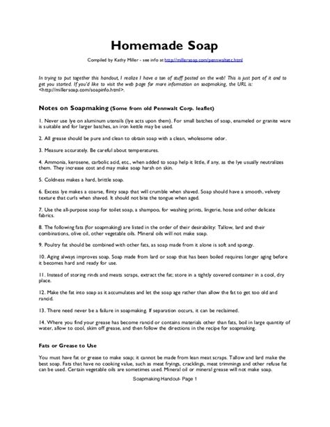 Homemade Soap Notes On Soapmaking Guidebook Comprehensive Soap Note Template