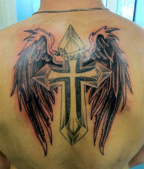 tattoo cross upper back angel tattoo with cross on upper back tattoos book 65