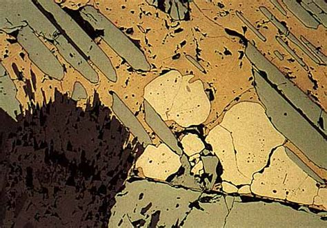 chalcopyrite thin section photomicrograph tuesday magnetite hematite life in