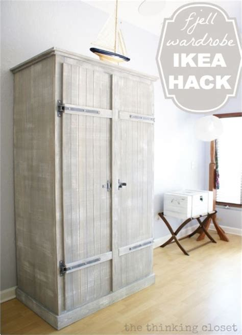 fjell wardrobe ikea hack before after the thinking botb double dose centsational girl