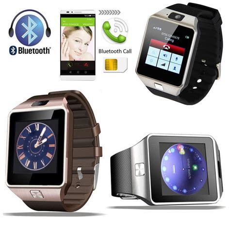 Smartwatch S6 Bluetooth Gsm For Android Ios dz09 bluetooth smart phone sim card for