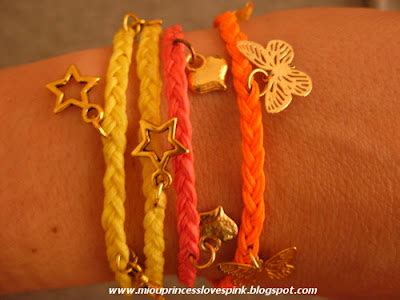 miouprincess loves pink!: DIY fever: charm / wrap / hex nut / double chain bracelets and hex nut