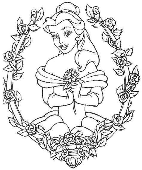 coloring pages of disney princess belle colouring sheets disney princess belle free for girls