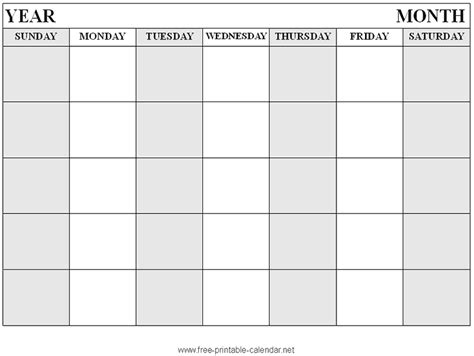 printable monthly calendar with large squares blank calendar large squares blank calendar squares