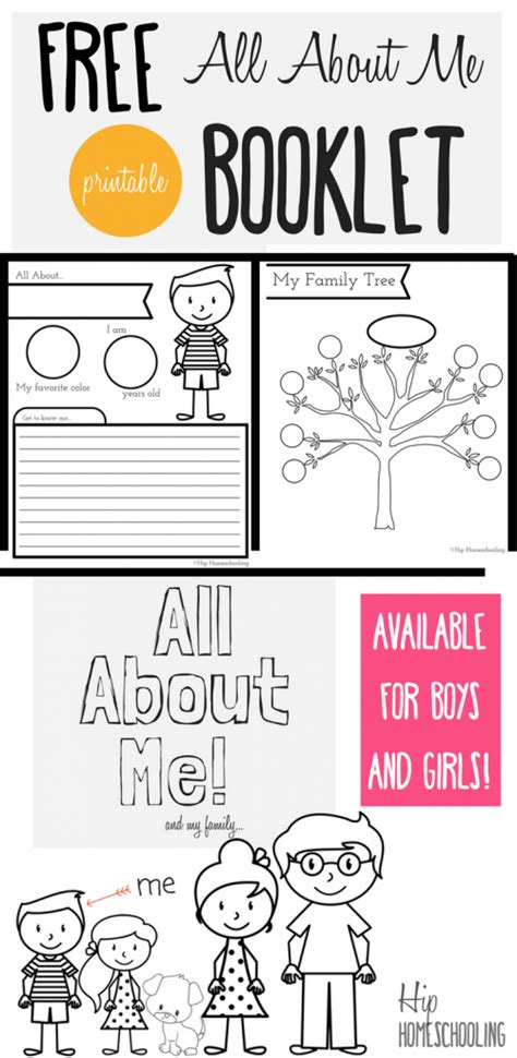 doodle free make all about me worksheet a printable book for elementary
