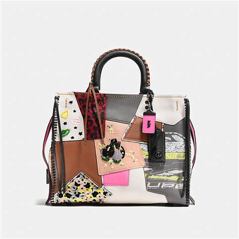 Coach Patchwork - coach rogue in embellished patchwork mixed materials
