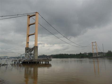 desain jembatan gantung jembatan kutai kartanegara wikipedia bahasa indonesia