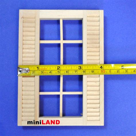 doll house shutters 8 light window with shutters 1 12 scale dollhouse miniature wood